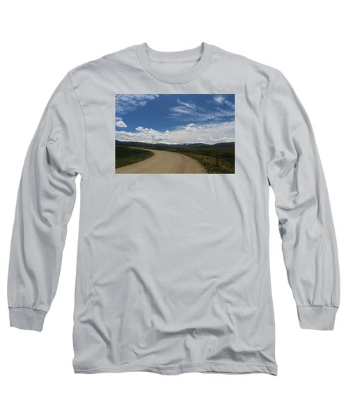 Dusty  Road Long Sleeve T-Shirt by Suzanne Lorenz