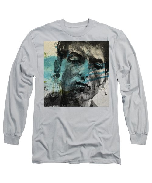 Dylan - Retro  Maggies Farm No More Long Sleeve T-Shirt by Paul Lovering
