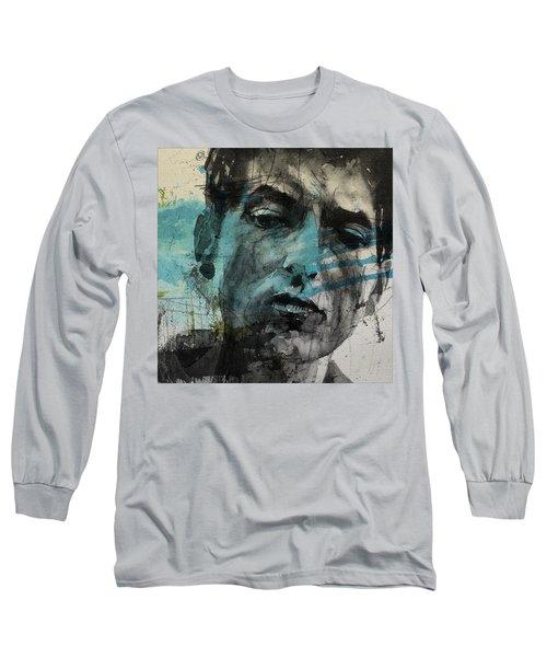Dylan - Retro  Maggies Farm No More Long Sleeve T-Shirt
