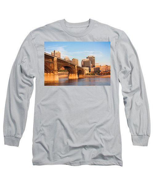Eads Bridge At St Louis Long Sleeve T-Shirt by Semmick Photo