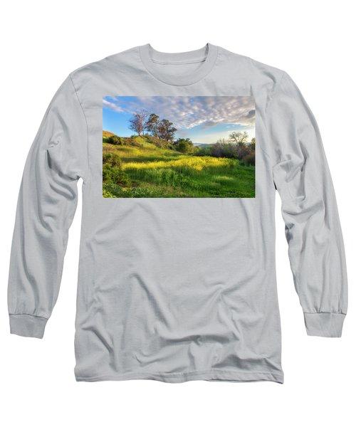 Eagle Grove At Lake Casitas In Ventura County, California Long Sleeve T-Shirt by John A Rodriguez
