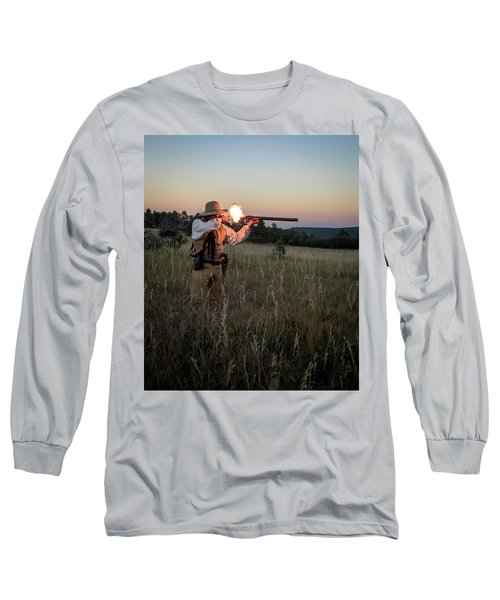 Early 1800's Flintlock Muzzleloader Blast Long Sleeve T-Shirt