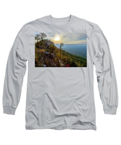 Early Autumn On Pilot Mountain Long Sleeve T-Shirt