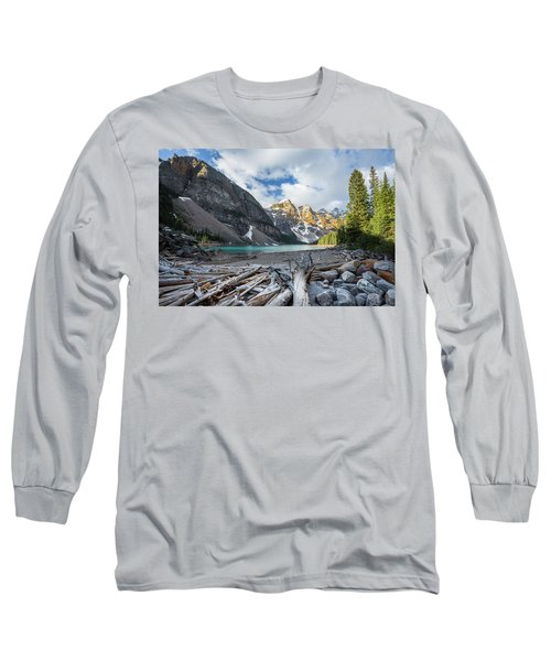Early Morning At Moraine Lake Long Sleeve T-Shirt