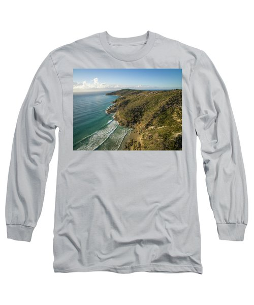 Early Morning Coastal Views On Moreton Island Long Sleeve T-Shirt