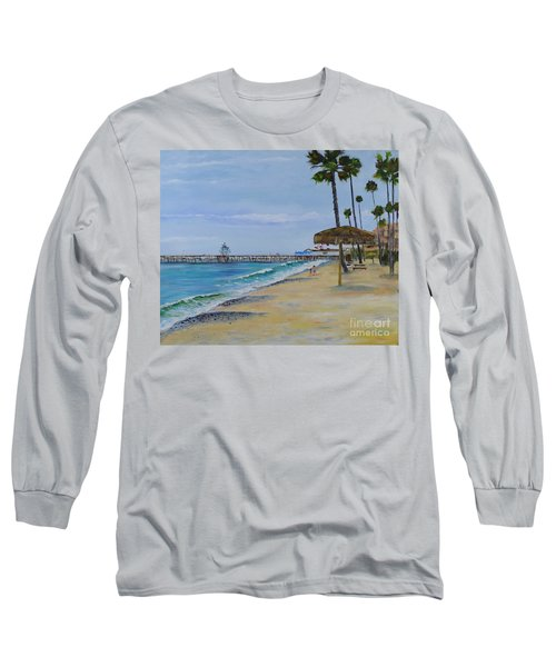 Early Morning On The Beach Long Sleeve T-Shirt