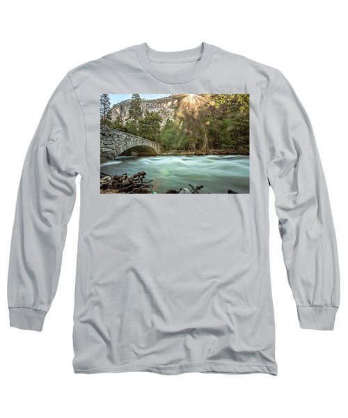 Early Morning On The Merced River Long Sleeve T-Shirt by Ryan Weddle