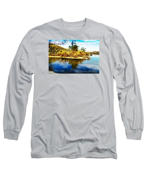 Long Sleeve T-Shirt featuring the photograph East Bay, Canyon Lake, Ca by Rhonda Strickland