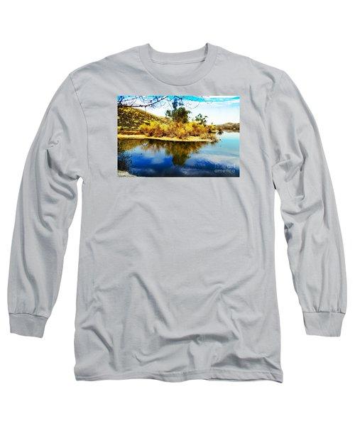 East Bay, Canyon Lake, Ca Long Sleeve T-Shirt by Rhonda Strickland