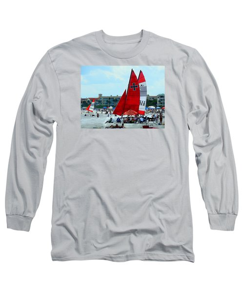 Long Sleeve T-Shirt featuring the photograph East Beach by Laura Ragland