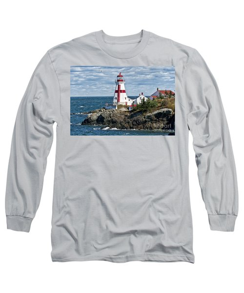 East Quoddy Lighthouse Long Sleeve T-Shirt