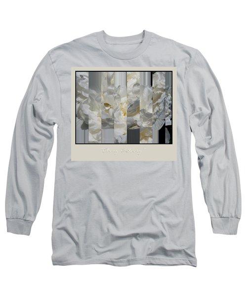 Ebony And Ivory Peony Long Sleeve T-Shirt by Brooks Garten Hauschild