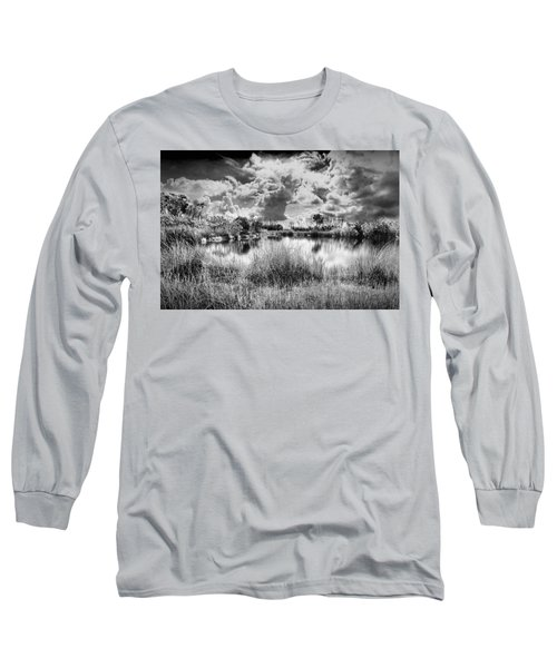 Everglades Lake 5678bw Long Sleeve T-Shirt