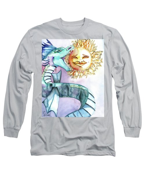 Eclipse Dragon Sun Eater Long Sleeve T-Shirt