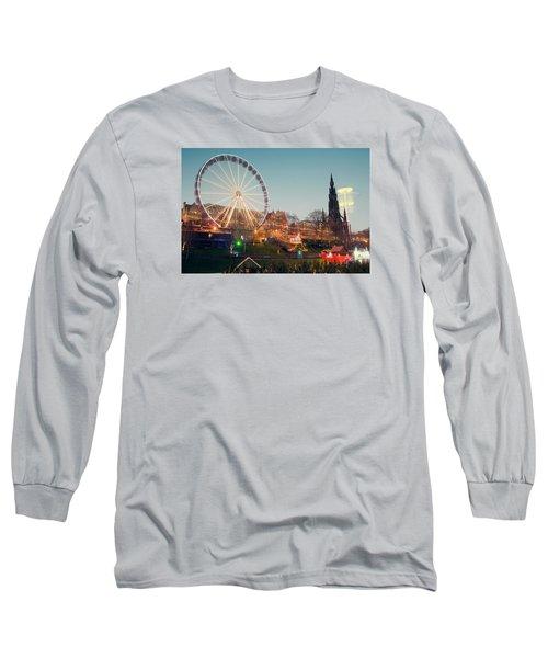 Edinburgh And The Big Wheel Long Sleeve T-Shirt
