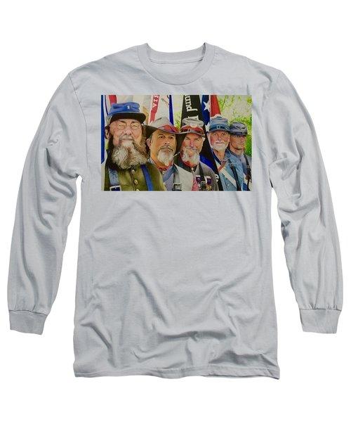 Edmund Ruffin Color Guard Long Sleeve T-Shirt