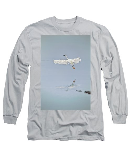 Egret Takes Flight Long Sleeve T-Shirt
