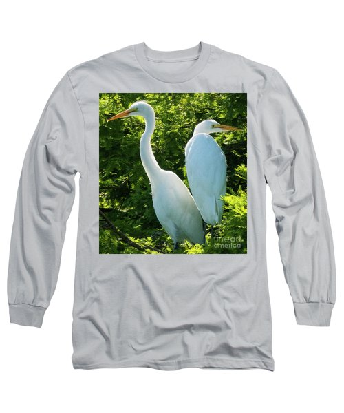 Egrets Sitting Around Long Sleeve T-Shirt