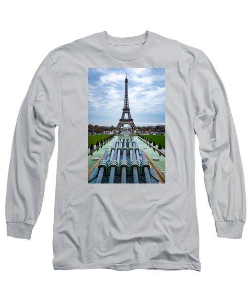 Eiffeltower From Trocadero Garden Long Sleeve T-Shirt by Rainer Kersten