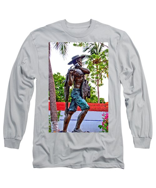 Long Sleeve T-Shirt featuring the photograph El Pescador by Jim Walls PhotoArtist