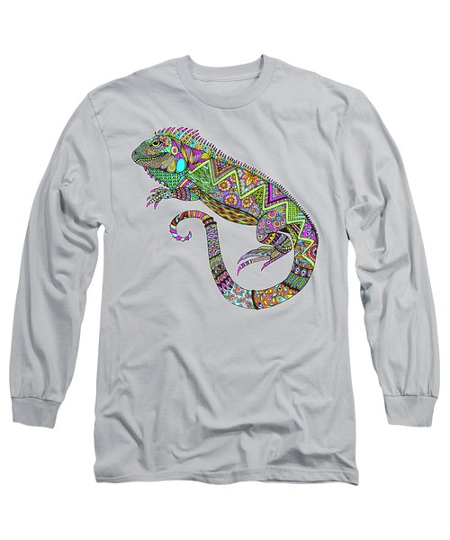 Electric Iguana Long Sleeve T-Shirt