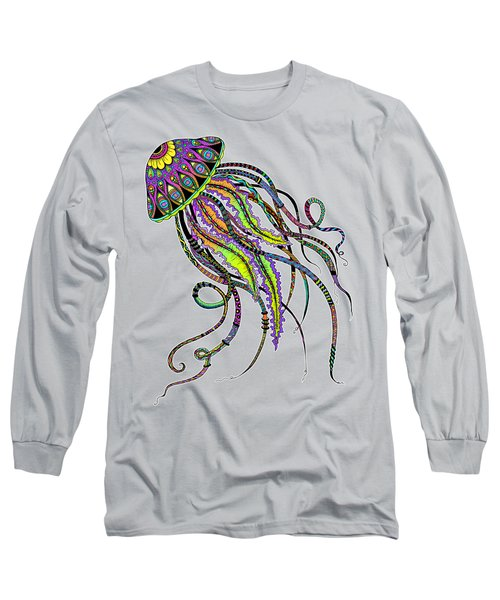 Electric Jellyfish Long Sleeve T-Shirt by Tammy Wetzel