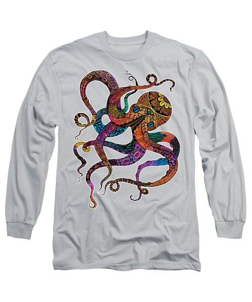 Electric Octopus Long Sleeve T-Shirt by Tammy Wetzel