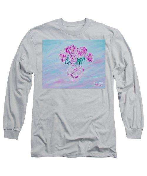 Elegant Bouquet Of Peonies. Joyful Gift. Thank You Collection Long Sleeve T-Shirt