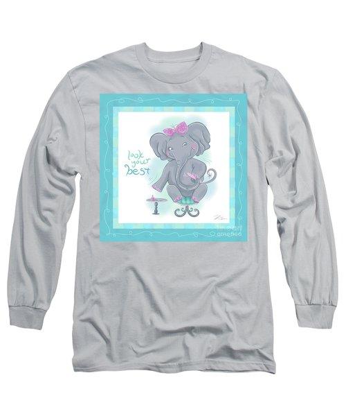 Elephant Bath Time Look Your Best Long Sleeve T-Shirt