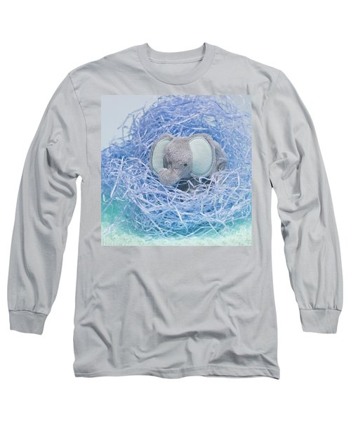 Elephant For Charity Blue Long Sleeve T-Shirt