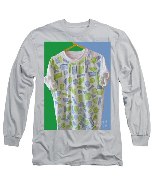 Long Sleeve T-Shirt featuring the painting Emblematic Sierra Leone Tee Shirt by Mudiama Kammoh