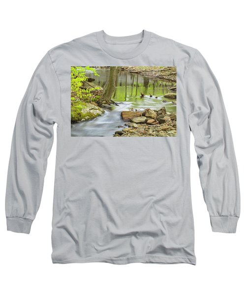 Emerald Liquid Glass Long Sleeve T-Shirt by Angelo Marcialis