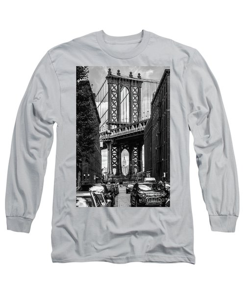 Empire State Building Framed By Manhattan Bridge Long Sleeve T-Shirt