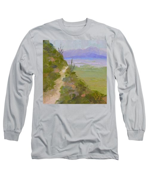 End Of Day At Gates Pass Long Sleeve T-Shirt by Susan Woodward