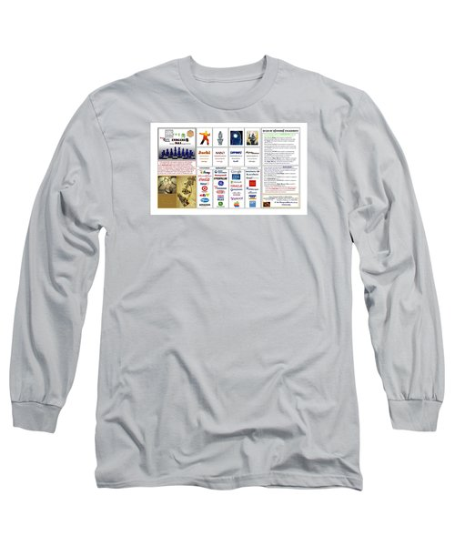 Endgames M And A Djia Long Sleeve T-Shirt by Peter Hedding