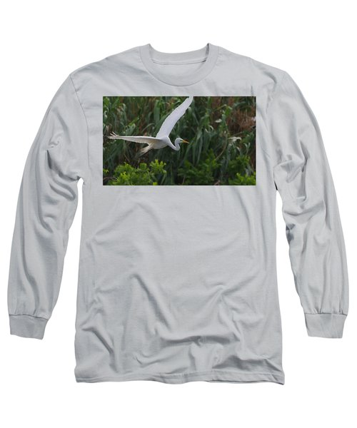 Enter The Great Egret 5 Digitalart Long Sleeve T-Shirt