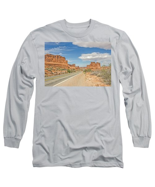Long Sleeve T-Shirt featuring the photograph Entrada Sandstone Formations by Sue Smith