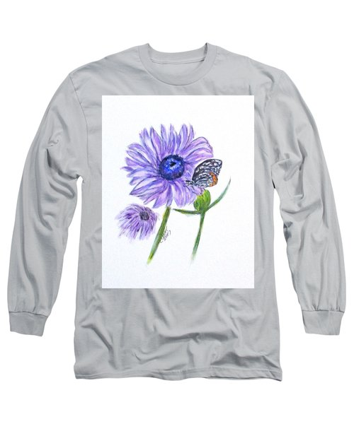 Erika's Butterfly Three Long Sleeve T-Shirt by Clyde J Kell