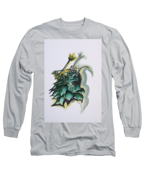Erika's Spring Plant Long Sleeve T-Shirt by Clyde J Kell