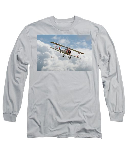Long Sleeve T-Shirt featuring the photograph Escadrille Lafayette - Hunters by Pat Speirs