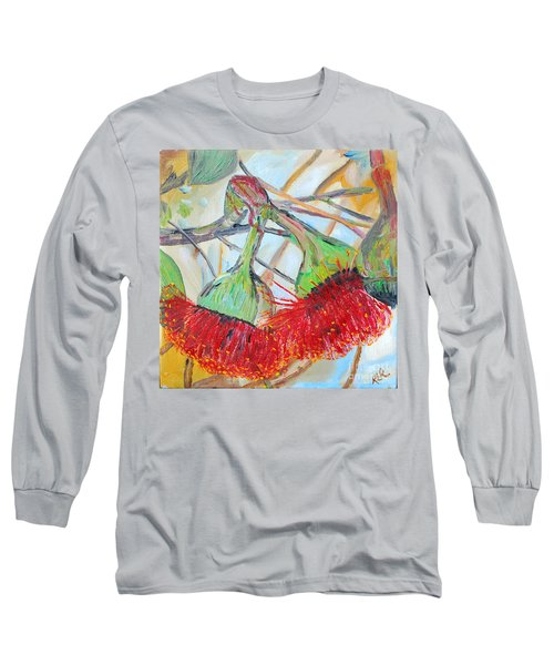 Eucalyptus Flowers Long Sleeve T-Shirt by Reina Resto