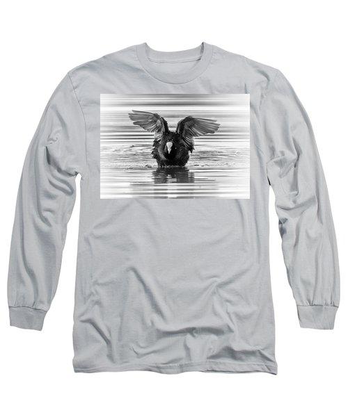 Eurasian Or Common Coot, Fulicula Atra, Duck Long Sleeve T-Shirt