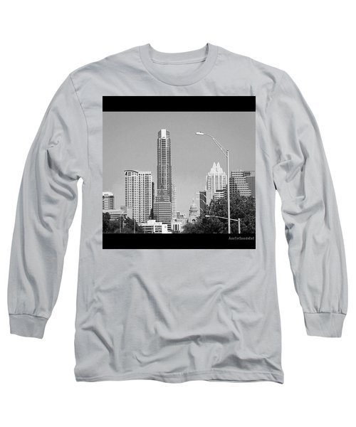Even In #blackandwhite, The #skyline Of Long Sleeve T-Shirt