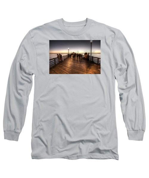 Evening At Oceanside Pier Long Sleeve T-Shirt