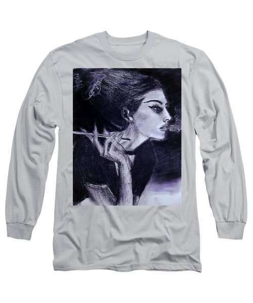Long Sleeve T-Shirt featuring the drawing Ever Dream by Jarko Aka Lui Grande