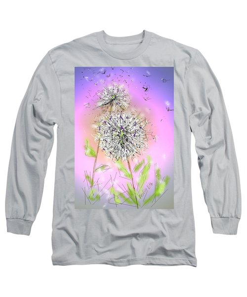 Long Sleeve T-Shirt featuring the digital art Ever So by Desline Vitto