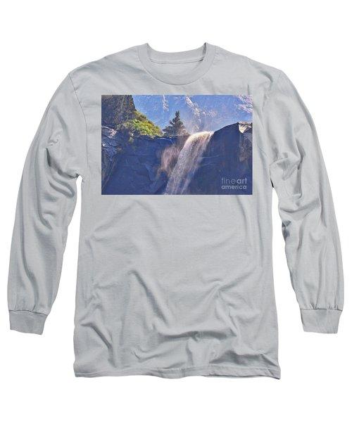 Evergreen Pines And Bridalveil Falls Long Sleeve T-Shirt
