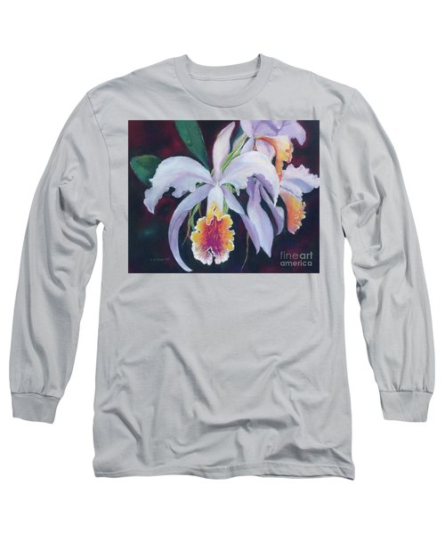 Exotic White Orchid Long Sleeve T-Shirt