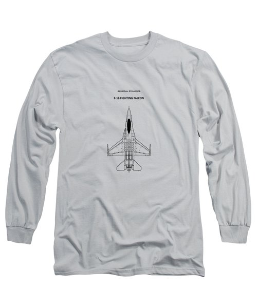 F-16 Fighting Falcon Long Sleeve T-Shirt by Mark Rogan
