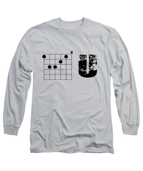 Long Sleeve T-Shirt featuring the drawing F Chord U by Bill Cannon